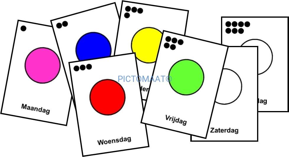 Uitgelezene Dagen v/d week (kleur) Pictomaat AX-08